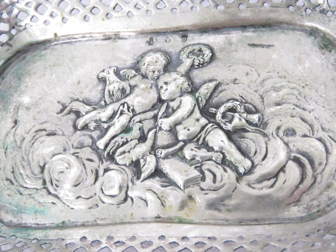 """CONTINENTAL 800 SILVER REPOUSSE DISH. 4 X 6""""; 2.99 OZT - 3"""