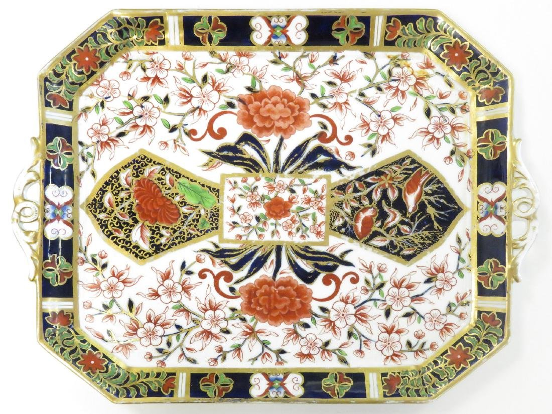 "ROYAL CROWN DERBY ""IMARI"" PATTERN PORCELAIN TRAY,"