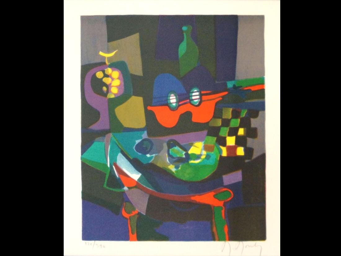 MARCEL MOULY (FRENCH 1918-2008), COLORED LITHOGRAPH,