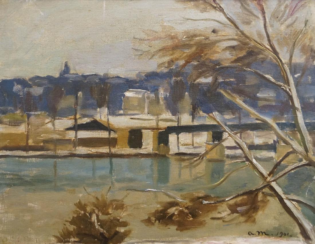 FRENCH SCHOOL (20TH CENTURY), OIL ON CANVAS, TRIEL SUR