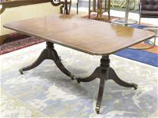 BAKER FURNITURE REGENCY STYLE CARVED AND INLAID