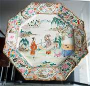 CHINESE FAMILLE ROSE DECORATED PORCELAIN CHARGER