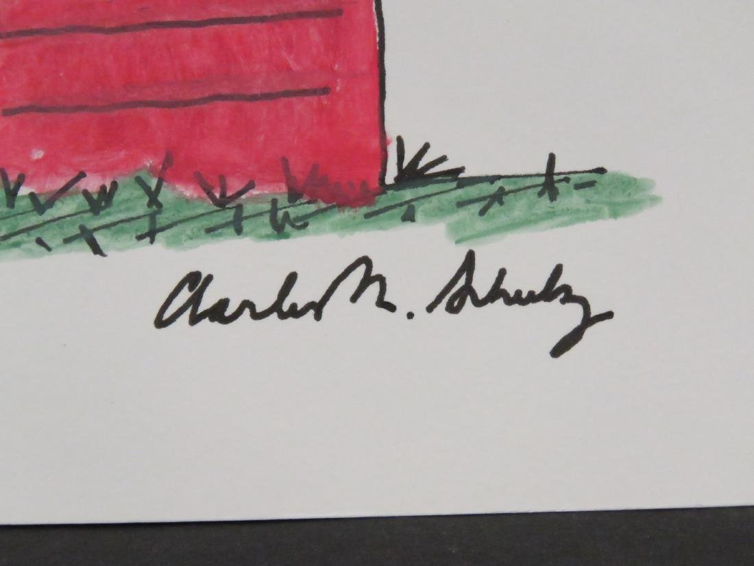CHARLES SCHULZ (AMERICAN 1922-2000), INK ON PAPER, - 2