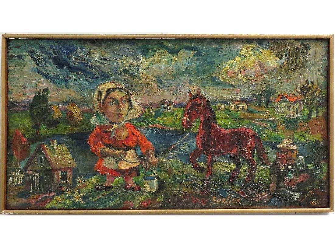 DAVID BURLIUK (RUSSIAN/ UKRAINE/AMERICAN 1882-1967) OIL