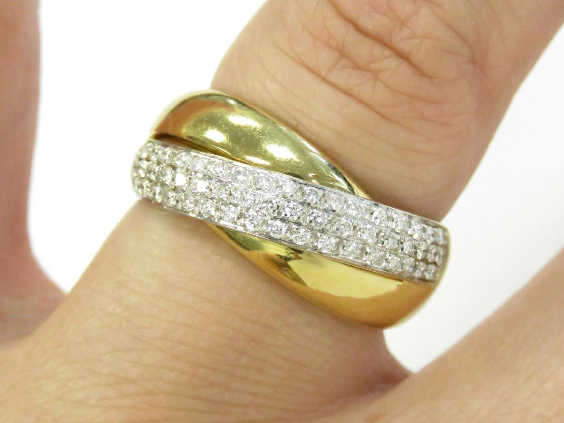18K YELLOW/WHITE GOLD AND DIAMOND RING SET WITH (56)