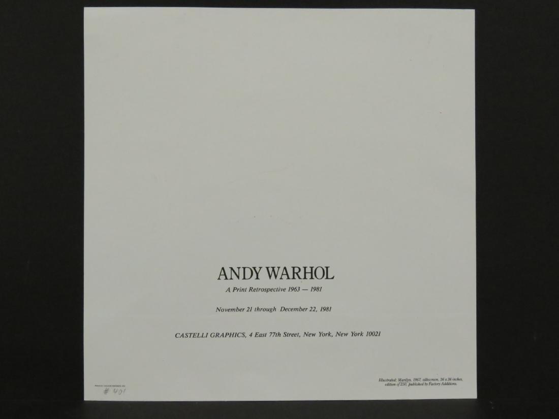 ANDY WARHOL, MARILYN (CASTELLI MAILER), OFFSET - 4