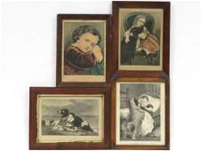 LOT 4 CURRIER  IVES PUBLISHERS LITHOGRAPHS INCLUDING