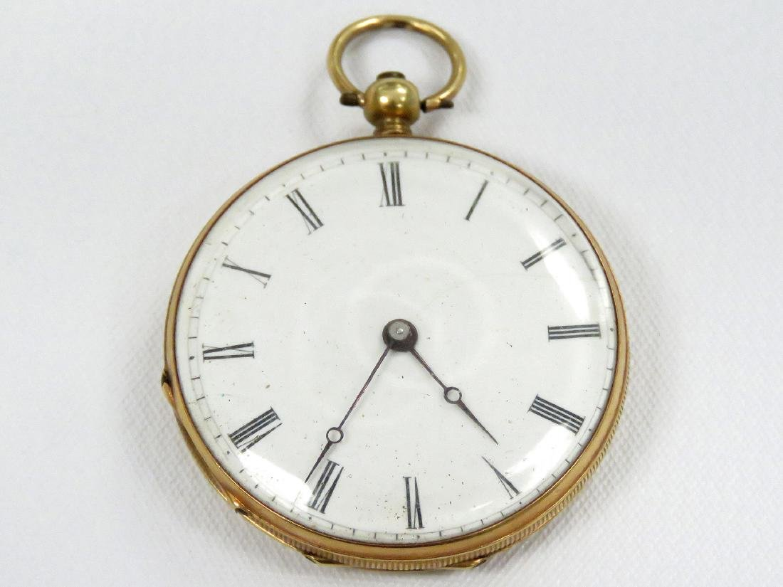 SWISS 18K KEY-WIND PENDANT WATCH, 19TH CENTURY. 34MM