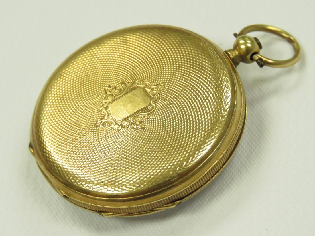 SWISS 18K KEY-WIND PENDANT WATCH, 19TH CENTURY. 34MM - 2