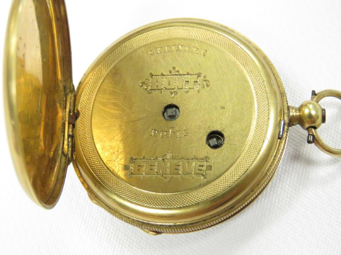 SWISS 18K KEY-WIND PENDANT WATCH, 19TH CENTURY. 34MM - 3