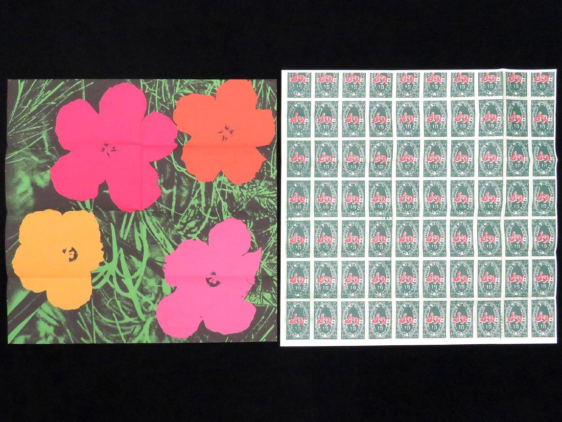 ANDY WARHOL, LOT (2) SCREEN PRINT MAILERS INCLUDING
