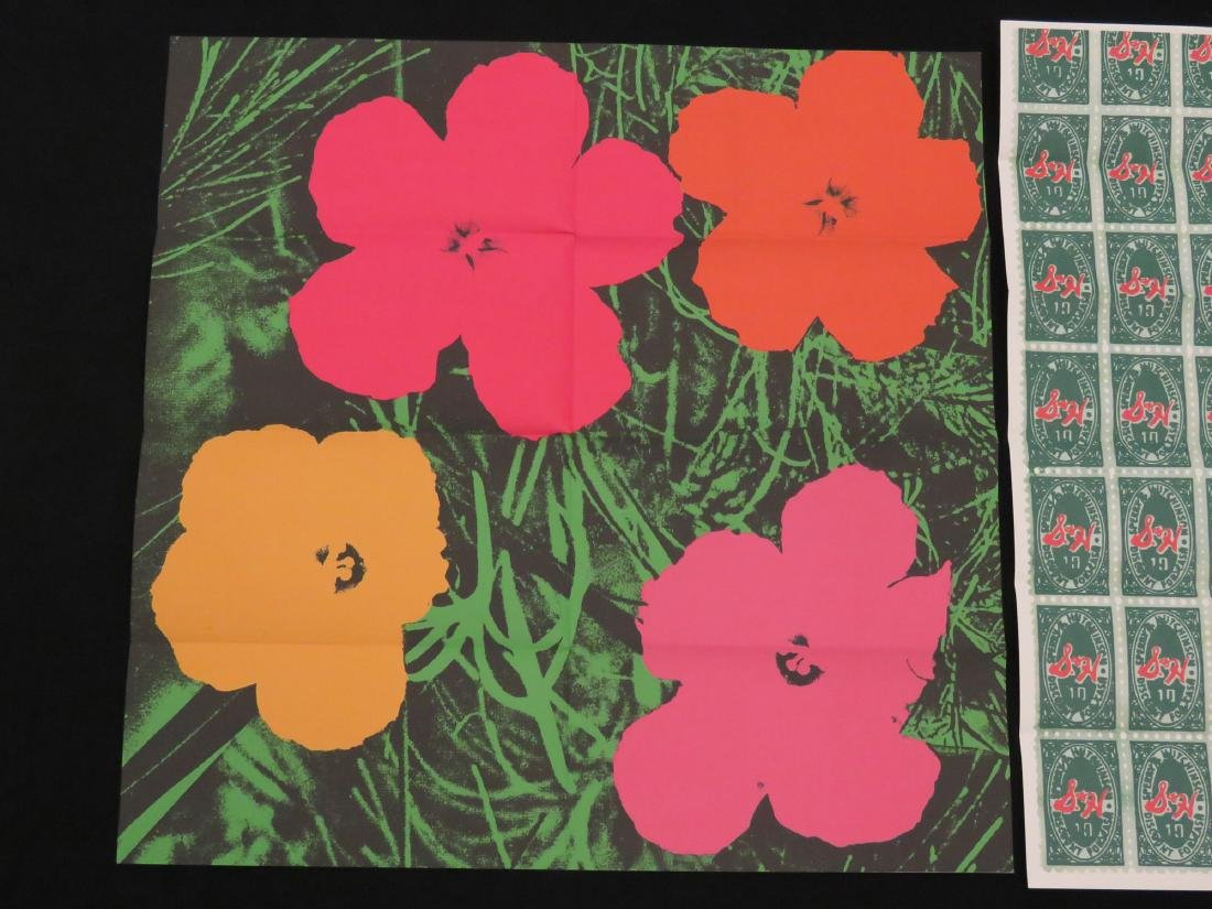 ANDY WARHOL, LOT (2) SCREEN PRINT MAILERS INCLUDING - 2