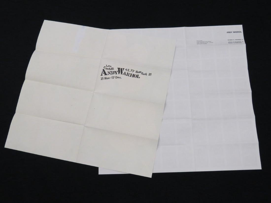 ANDY WARHOL, LOT (2) SCREEN PRINT MAILERS INCLUDING - 5