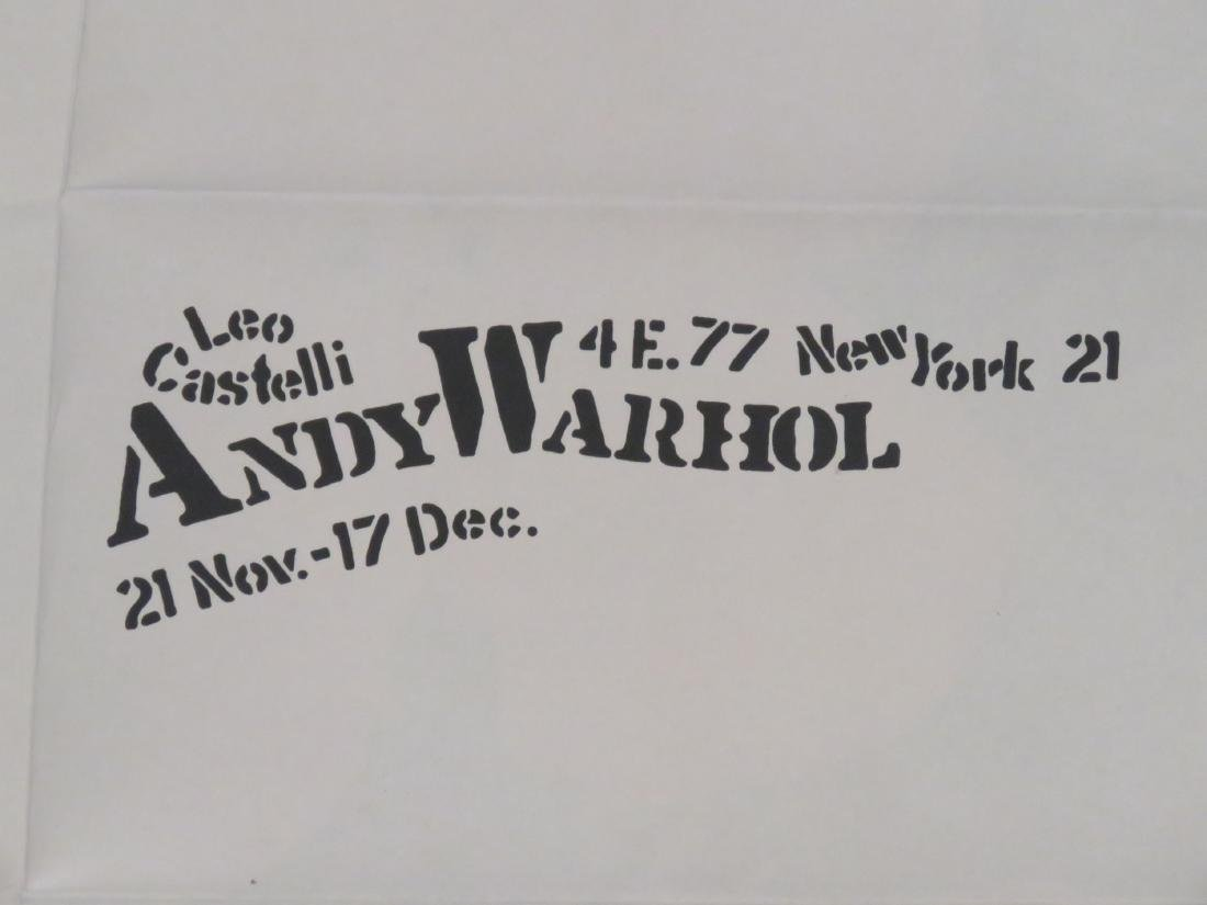 ANDY WARHOL, LOT (2) SCREEN PRINT MAILERS INCLUDING - 6