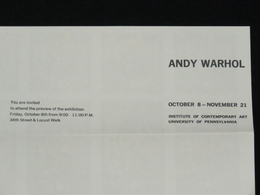 ANDY WARHOL, LOT (2) SCREEN PRINT MAILERS INCLUDING - 7