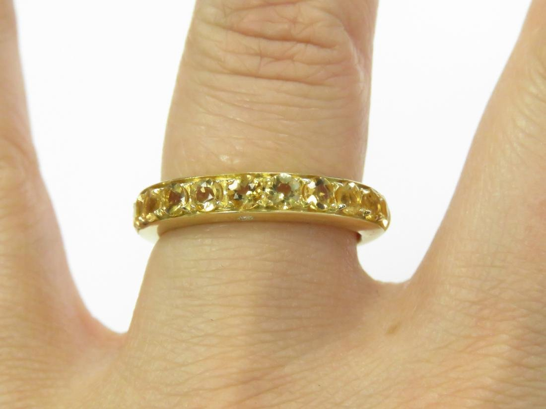 ITALIAN 18K YELLOW GOLD, CITRINE AND DIAMOND RING SET - 2