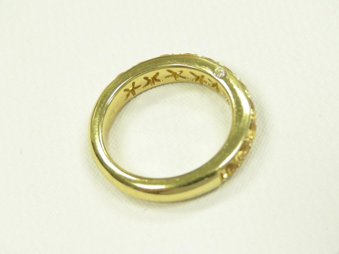 ITALIAN 18K YELLOW GOLD, CITRINE AND DIAMOND RING SET - 4