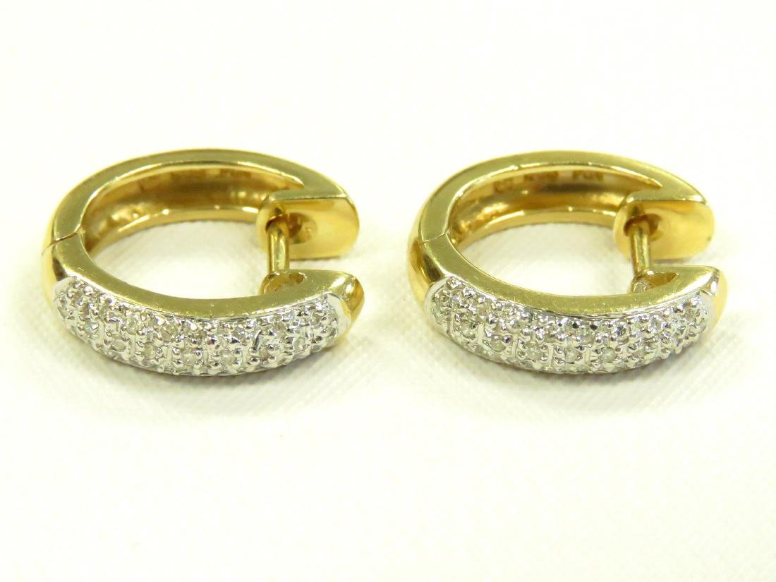 585/14K YELLOW GOLD AND DIAMOND HINGED AND ELONGATED