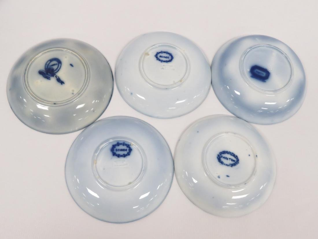 LOT (14) ASSORTED FLOW BLUE PLATES/SAUCERS INCLUDING - 9