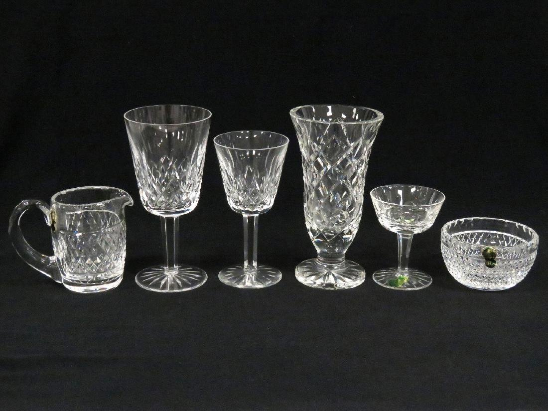 "LOT (22) PIECES WATERFORD INCLUDING ""LISMORE"" CRYSTAL"