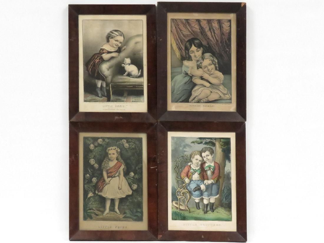 LOT (4) CURRIER & IVES PUBLISHERS, LITHOGRAPHS