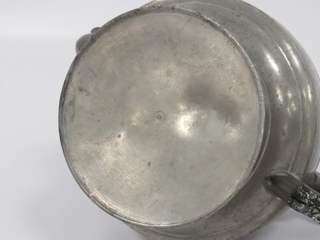 LOT (2) PEWTER, 19TH CENTURY INCLUDING TEAPOT, HEIGHT - 6