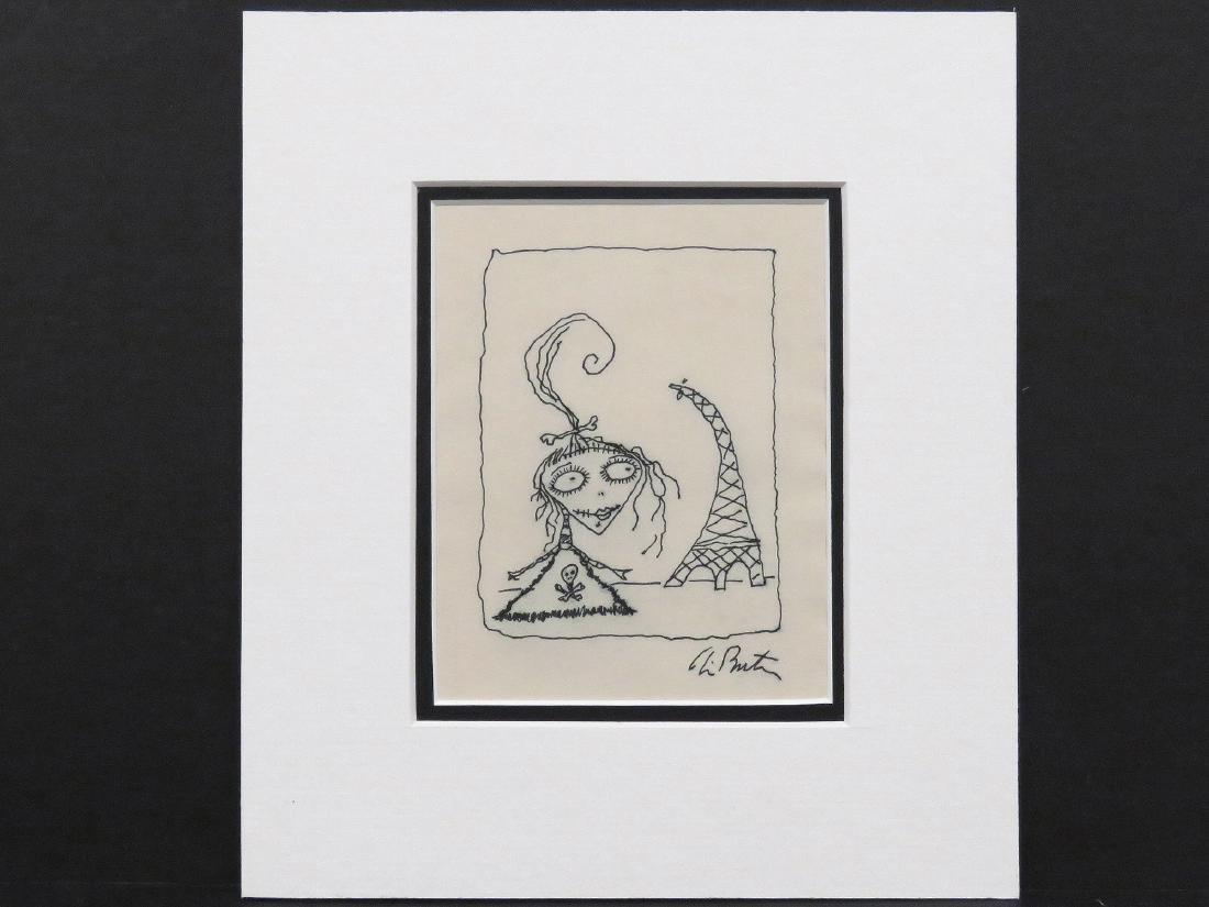 TIM BURTON (AMERICAN 1958-), INK ON PAPER, UNTITLED