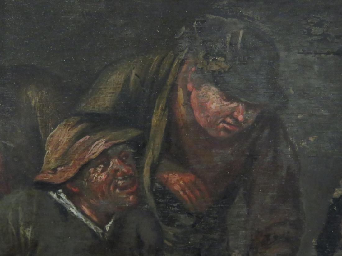 FLEMISH SCHOOL (18TH CENTURY), OIL ON PANEL, FIGURES IN - 2