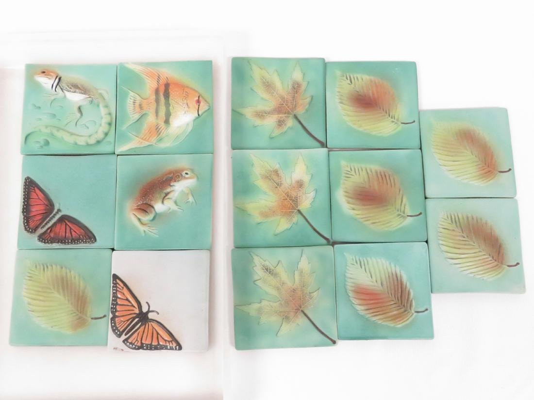 LOT (14) SURVING STUDIOS HIGH RELIEF CERAMIC TILES