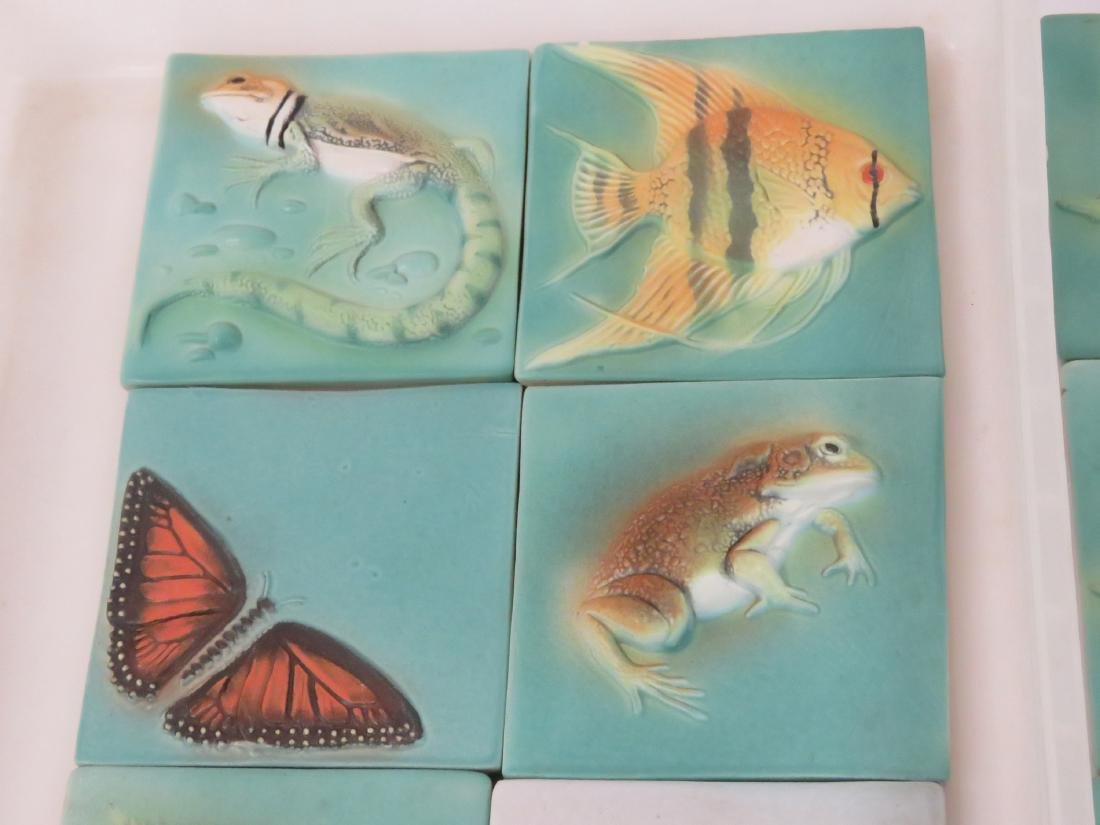 LOT (14) SURVING STUDIOS HIGH RELIEF CERAMIC TILES - 2