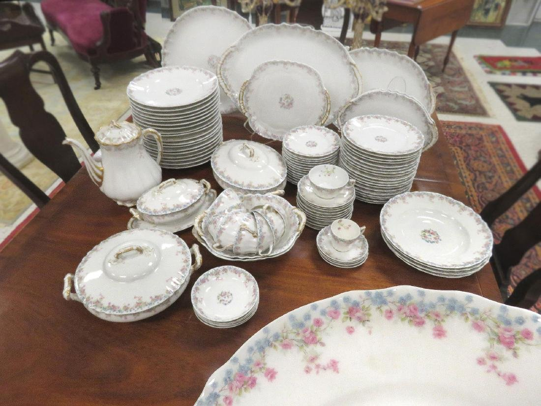 THEODORE HAVILAND LIMOGES DECORATED PARTIAL DINNER