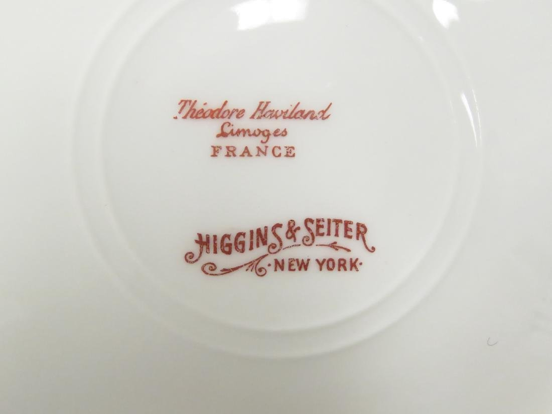 THEODORE HAVILAND LIMOGES DECORATED PARTIAL DINNER - 3