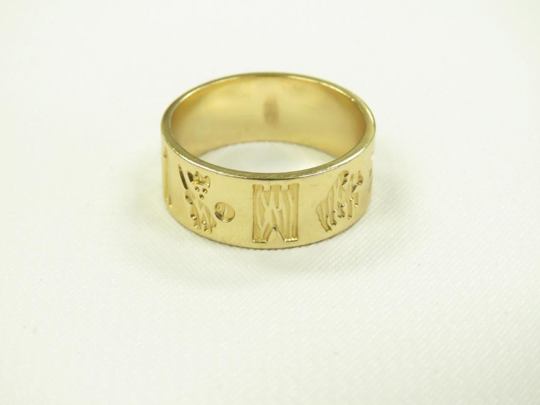 IRISH 14K YELLOW GOLD BAND. RING SIZE 8; 6.01 GRAMS - 3