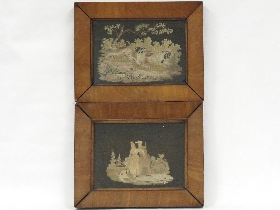 PAIR PETITE AND NEEDLE POINT PANELS, 19TH CENTURY. 7