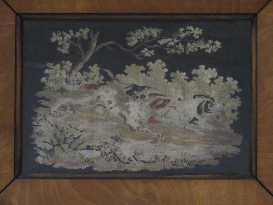 PAIR PETITE AND NEEDLE POINT PANELS, 19TH CENTURY. 7 - 2