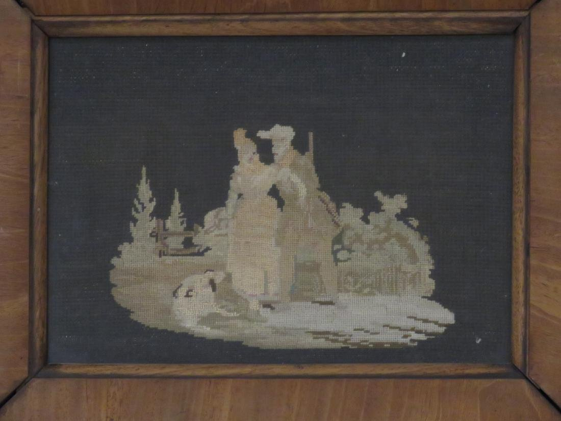 PAIR PETITE AND NEEDLE POINT PANELS, 19TH CENTURY. 7 - 3