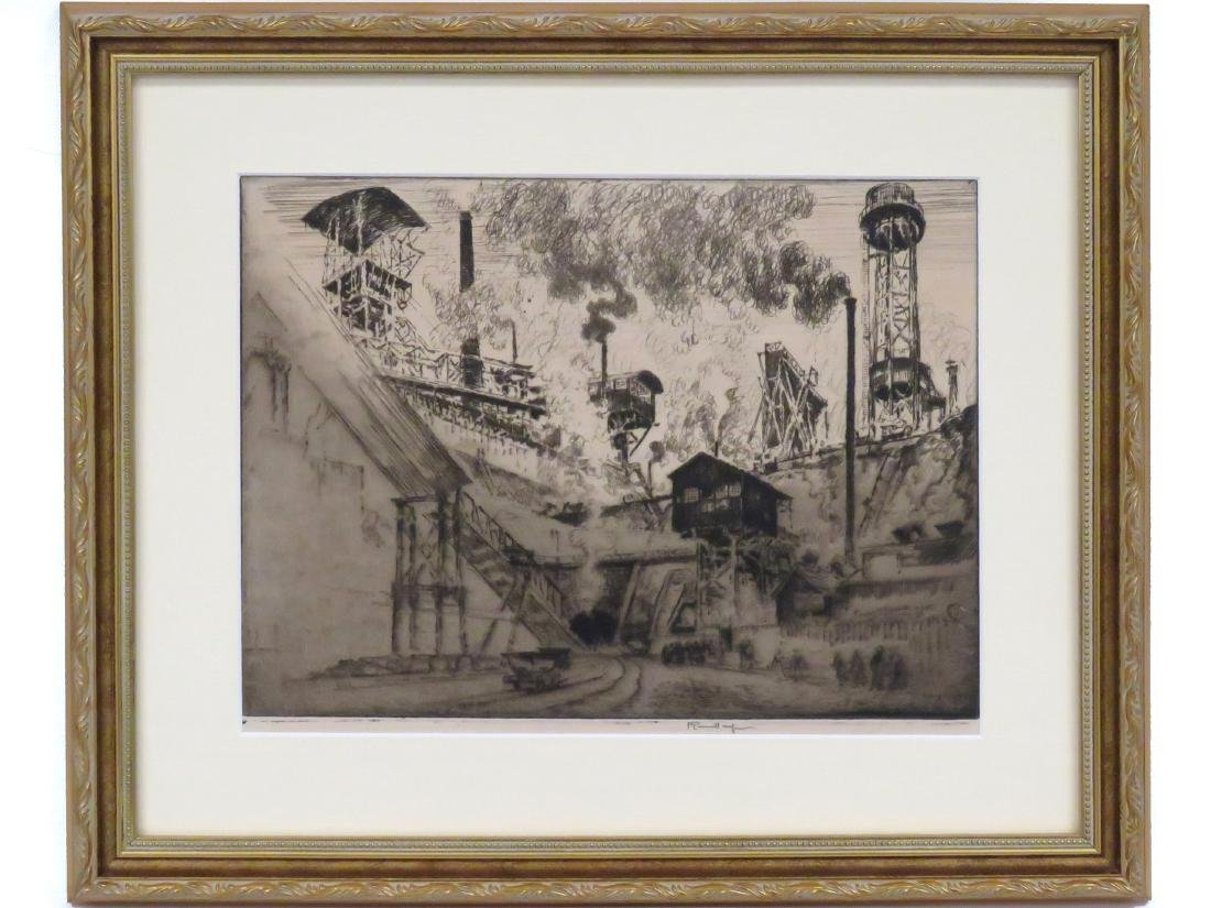 JOSEPH PENNELL (AMERICAN 1857-1926), ETCHING, COAL