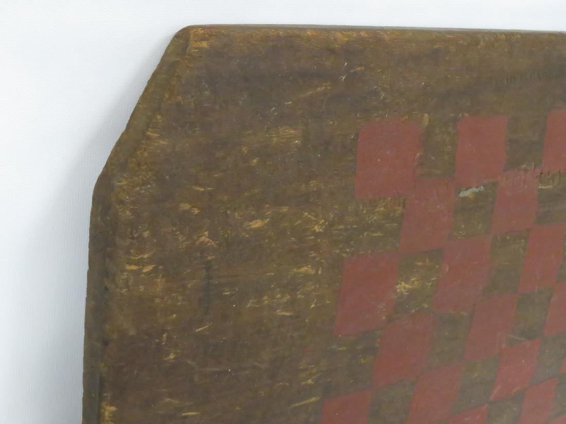 VINTAGE PAINTED PINE GAME BOARD, 19TH CENTURY. 22 X 15 - 2
