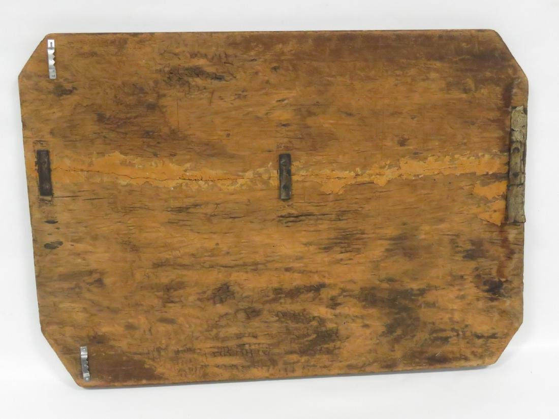 VINTAGE PAINTED PINE GAME BOARD, 19TH CENTURY. 22 X 15 - 3
