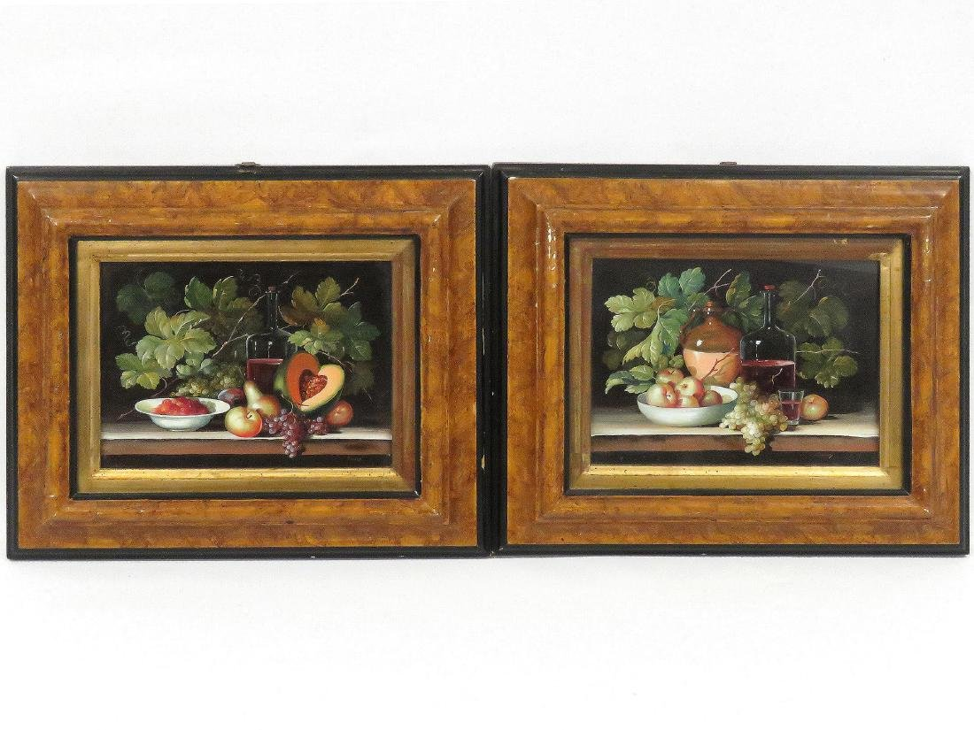 AMERICAN SCHOOL (20TH CENTURY), PAIR OIL ON COPPER,