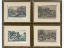 LOT 4 CURRIER  IVES PUBLISHERS LITHOGRAPHS