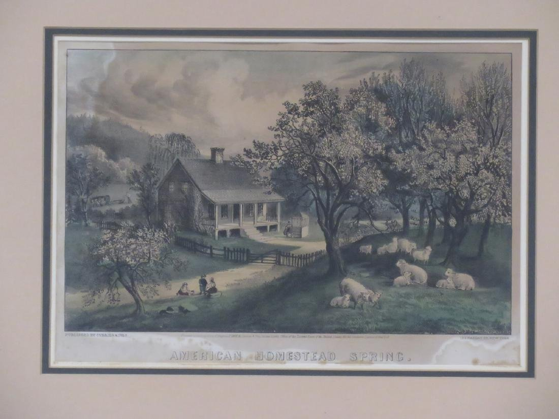 LOT (4) CURRIER & IVES PUBLISHERS, LITHOGRAPHS - 2