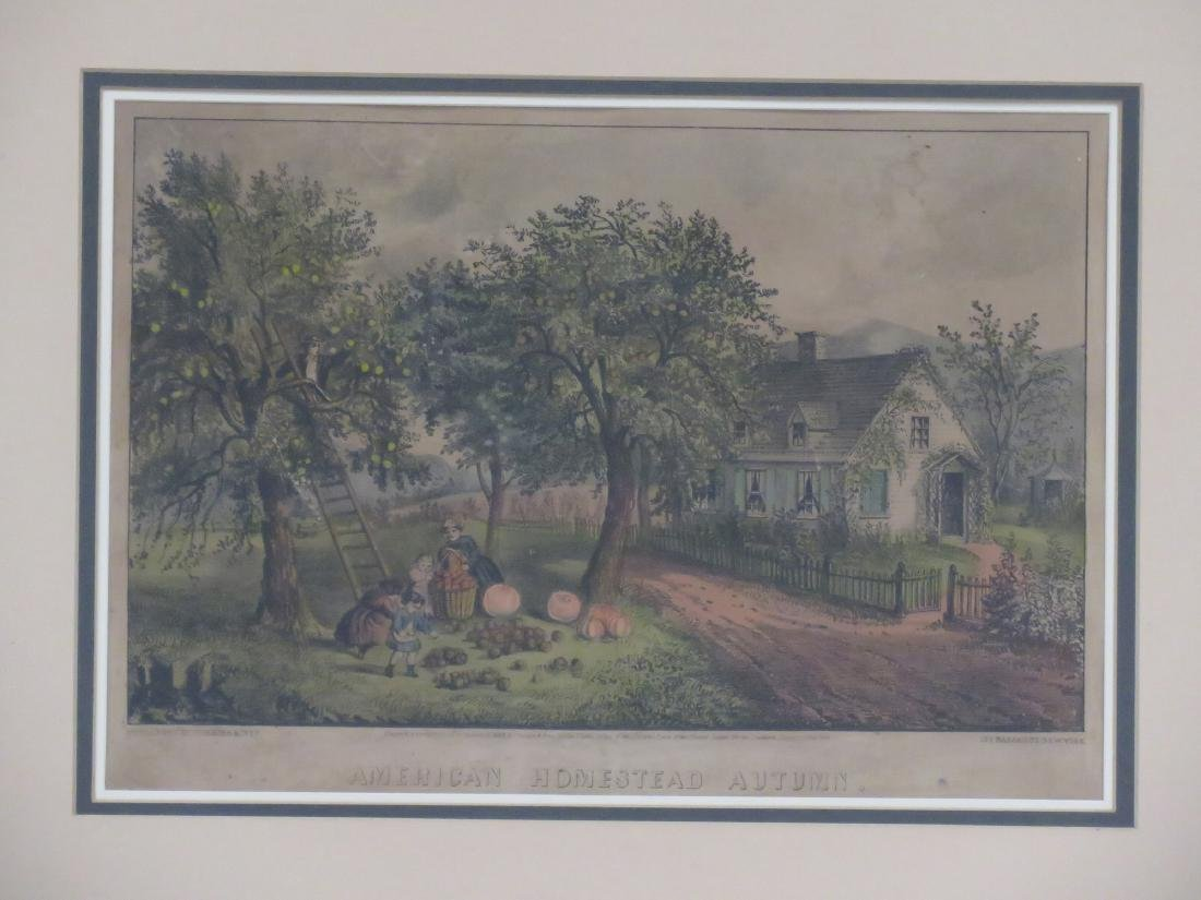 LOT (4) CURRIER & IVES PUBLISHERS, LITHOGRAPHS - 3
