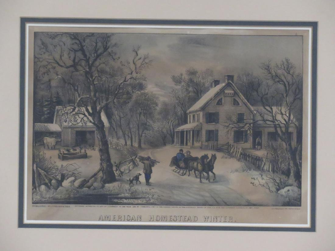 LOT (4) CURRIER & IVES PUBLISHERS, LITHOGRAPHS - 5