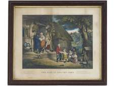 CURRIER  IVES PUBLISHERS LITHOGRAPH THE SALE OF THE