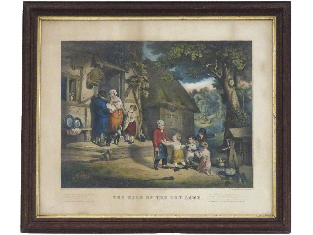 "CURRIER & IVES PUBLISHERS, LITHOGRAPH, ""THE SALE OF THE"