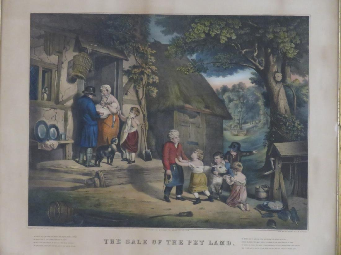 """CURRIER & IVES PUBLISHERS, LITHOGRAPH, """"THE SALE OF THE - 2"""