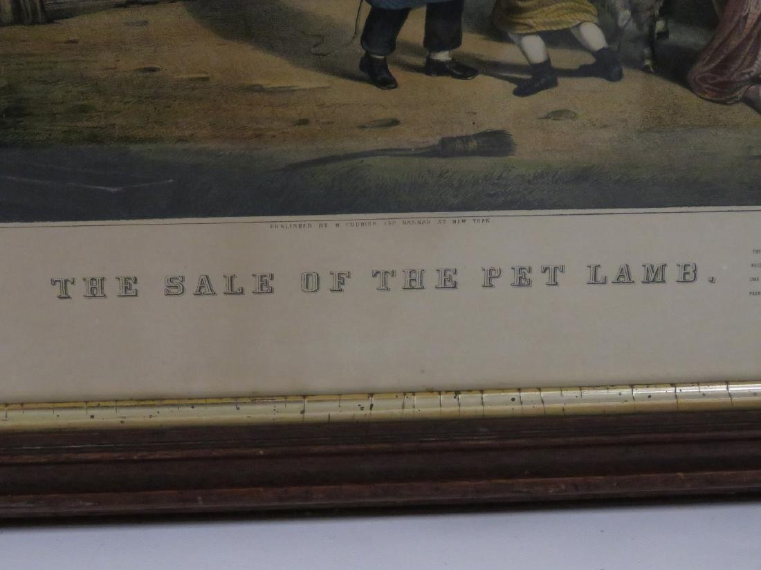 """CURRIER & IVES PUBLISHERS, LITHOGRAPH, """"THE SALE OF THE - 3"""
