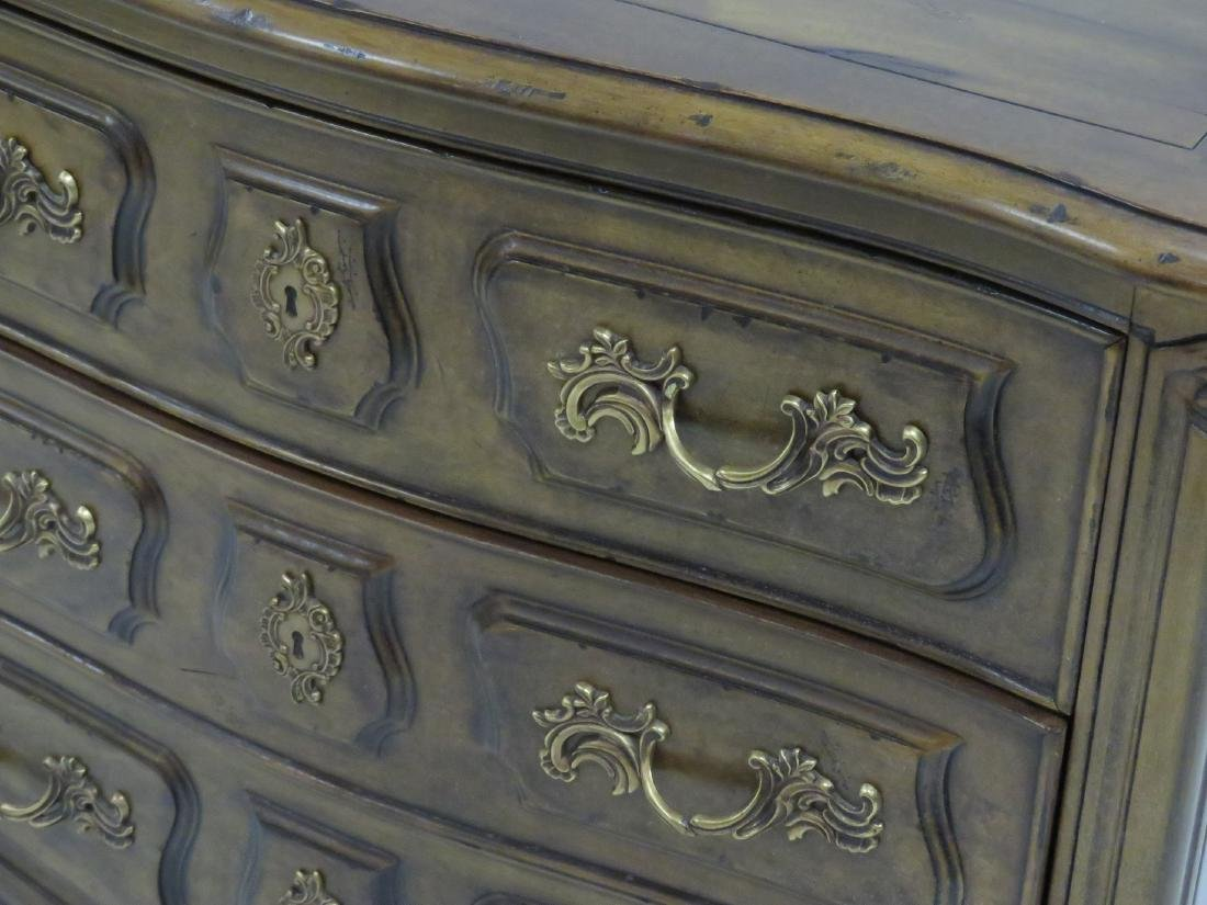 HENREDON FRENCH PROVINCIAL STYLE FRUITWOOD COMMODE. - 2