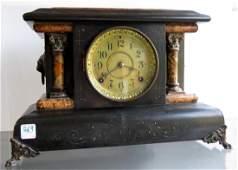 VINTAGE SETH THOMAS EBONIZED MANTLE CLOCK HEIGHT 11